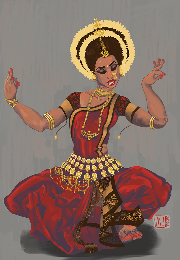 Indian Dancer by PlutoLaRu