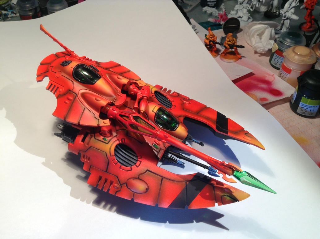Warhammer 40k - Saim Hann Fire Prism by PixelRambo