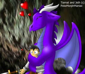 Jeth's new dragon girlfriend by PokeMorphManiac