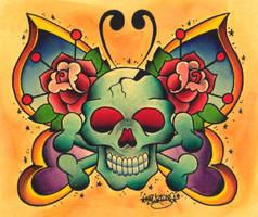 Butterfly Skull by kawzone