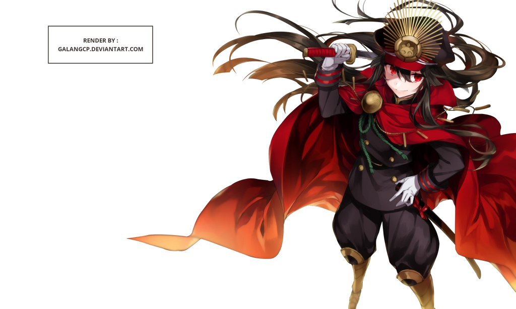 Oda Nobunaga/Demon Archer Render -Fate Grand Order by