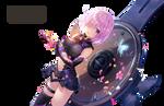 Mashu Kyrielight (Shielder) Render - Fate