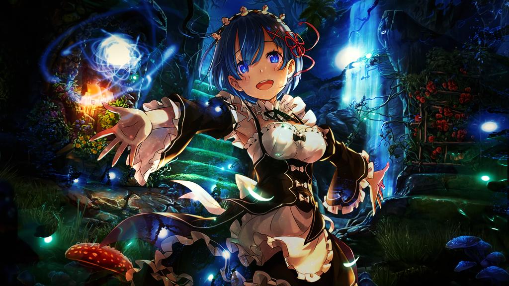 Anime wallpaper rem re zero gfx by galangcp free for Re zero wallpaper