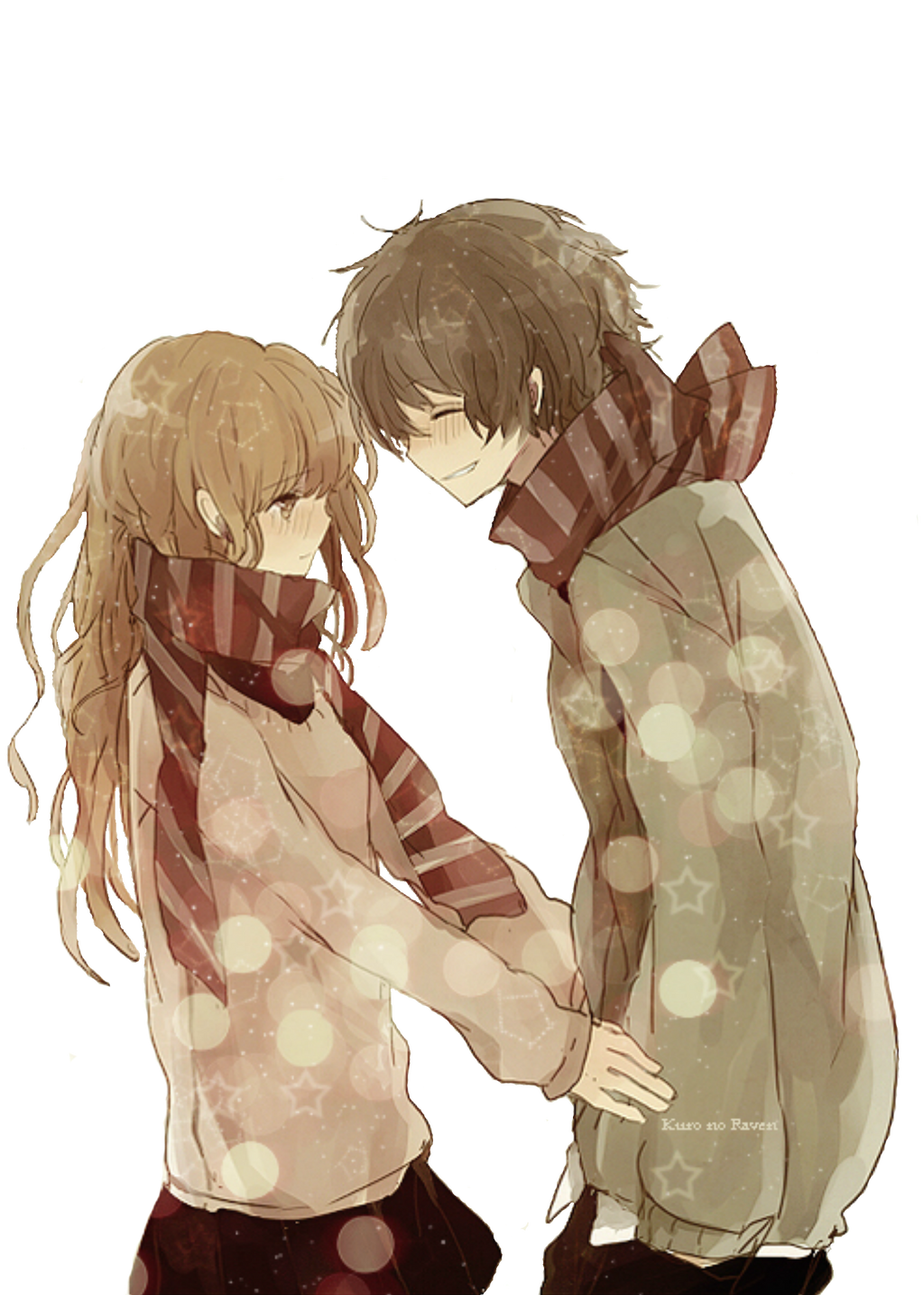 Anime boy and girl by LCkiWi on DeviantArt