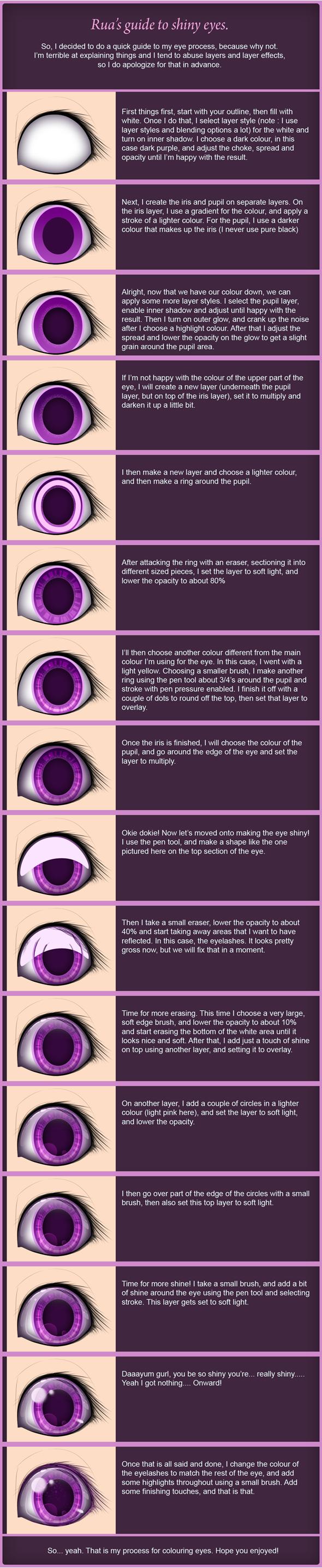 Rua's guide to shiny eyes by Ruaniamh