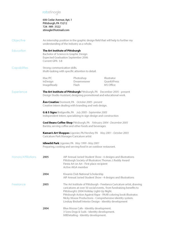 .: Resume :. by Stinoga