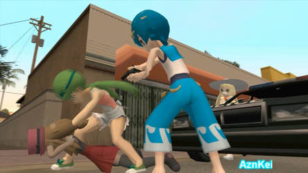 GTA San Andreas: Pokemon Serena, Alola CRASH girls