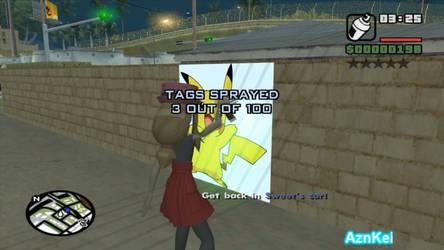 GTA San Andreas: Pokemon Serena, Pikachu Grove Tag