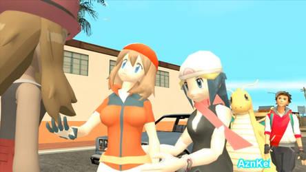 GTA San Andreas: Pokemon Serena, Pokegirls Love