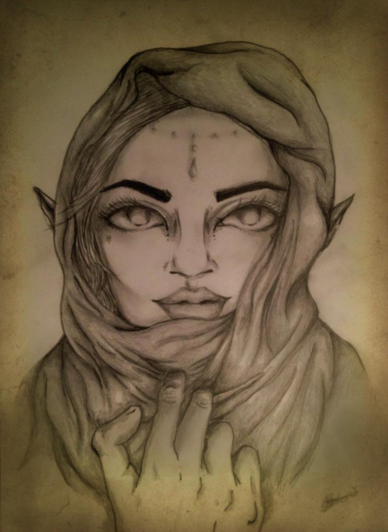 Elf in cloak ~ by Izzybella4