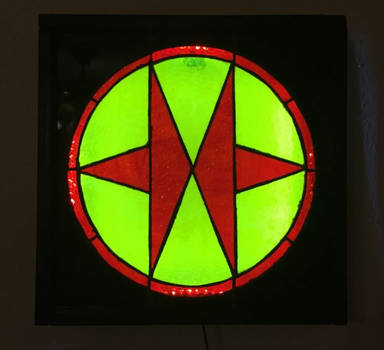Exosquad Stained Glass Lamp 2