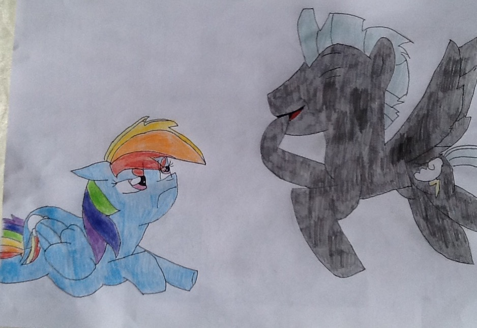 Grumpy Rainbow Horse by MLPNextGenFan