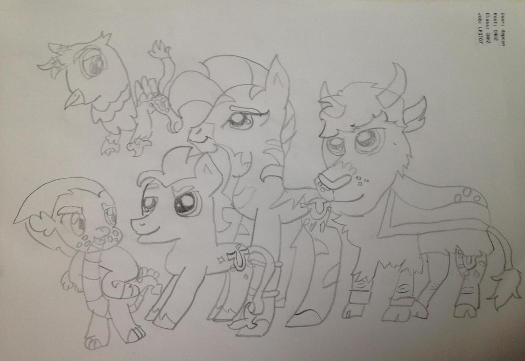The Pony Guard sketch by MLPNextGenFan
