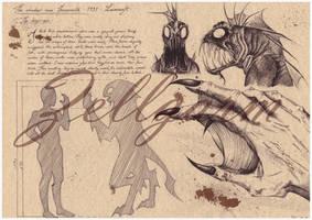 Anatomic Deep One - Lovecraft by Zellgarm