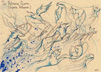 Patronus Charm - Harry Potter by Zellgarm
