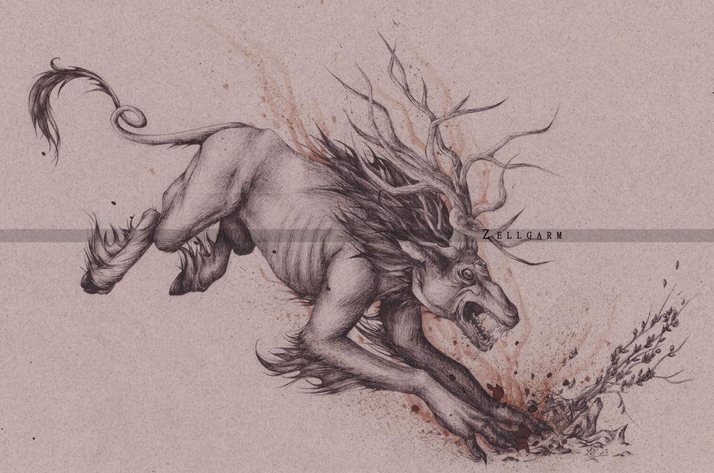 Fiend - The Witcher 3 : Wild Hunt by Zellgarm on DeviantArt