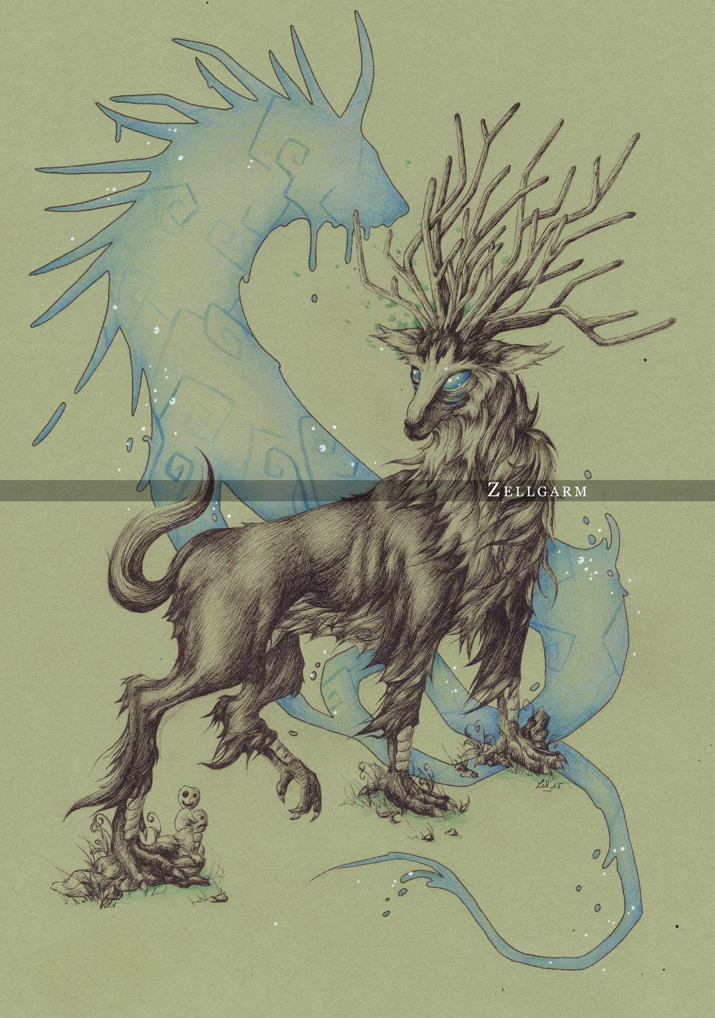 Forest Spirit Princess Mononoke By Zellgarm On Deviantart