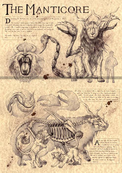 THE MANTICORE - PERSIAN MYTHOLOGY