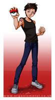 Anime Style Portrait- Aron by Bomu