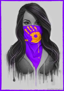 Maked Girl - Purple