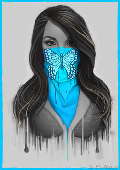Masked Girl - Blue