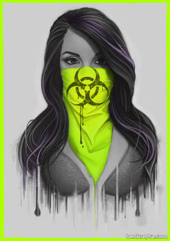 Masked Girl - Green