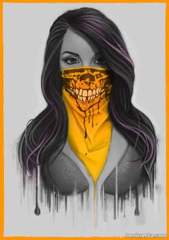 Masked Girl - Orange