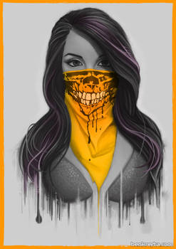 Masked Girl - Orange