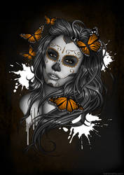 Sugar Skull Girl by Bomu