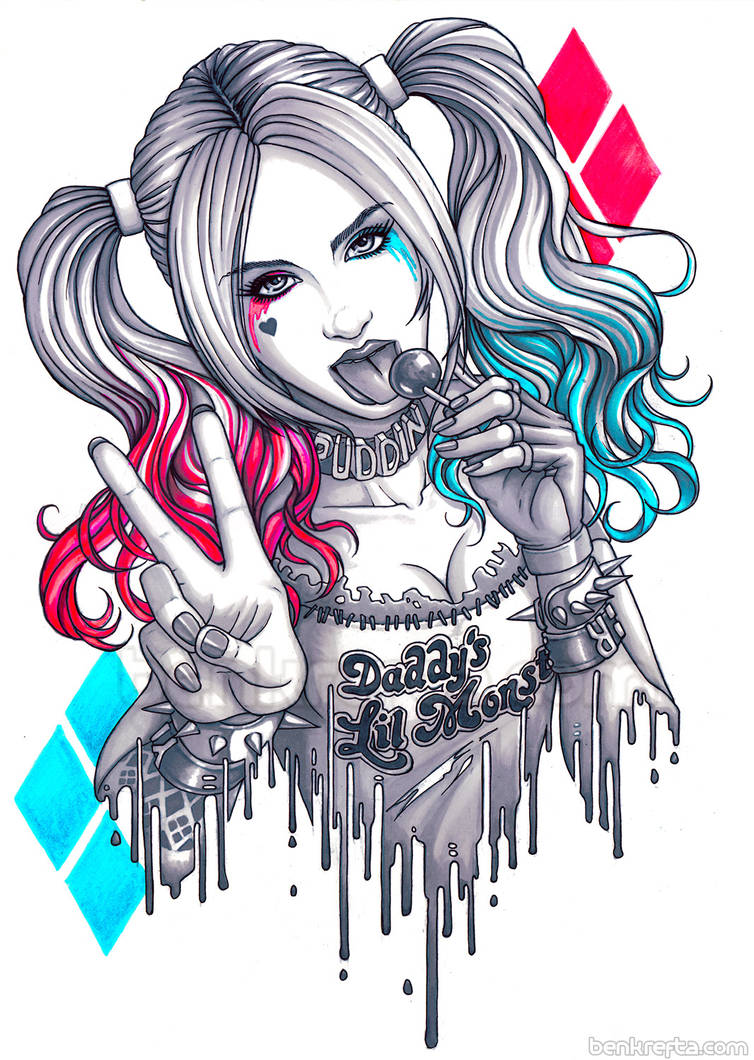 Harley Quinn Markers by Bomu