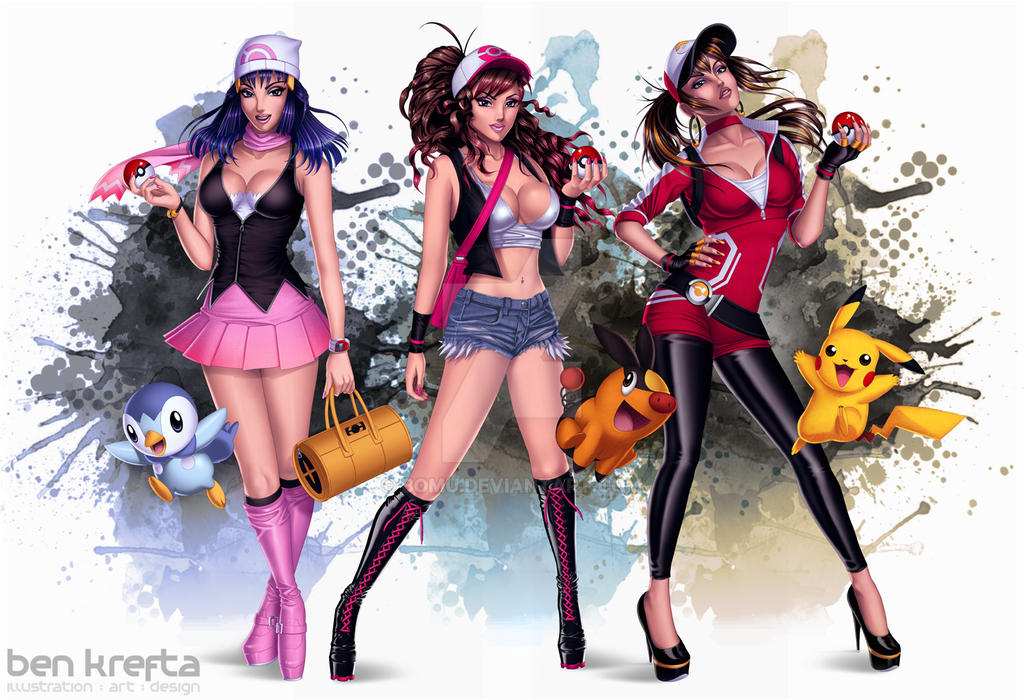Pokemon Trainers by Bomu