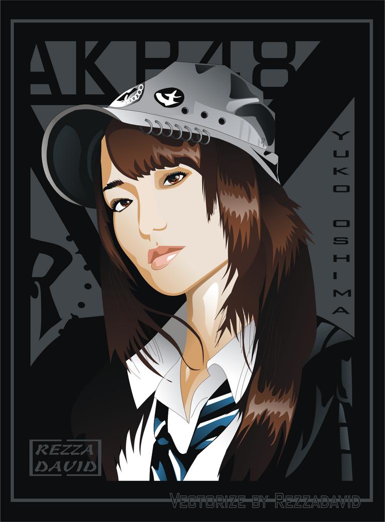 AKB48 : Yuko Oshima by RezzaVANdaviD