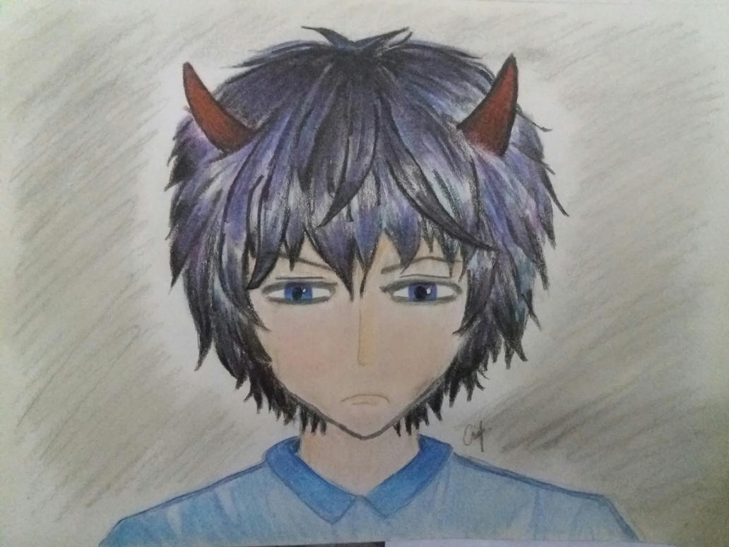 The boy with horns by Curtisq