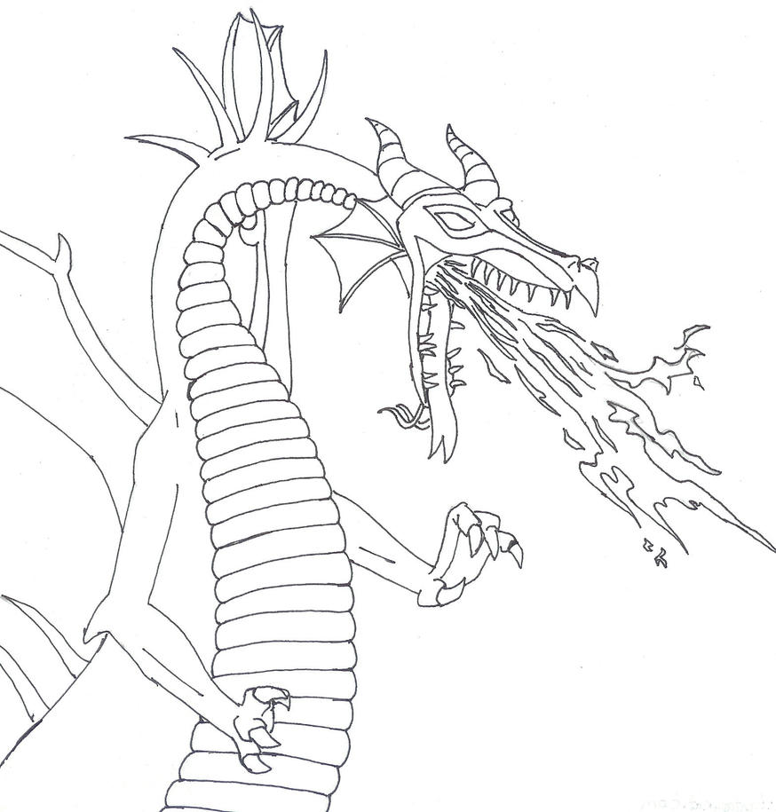 Maleficent coloring pages to print - Deviantart Coloring Pages Dragons Maleficent Dragon By Nightangelworks