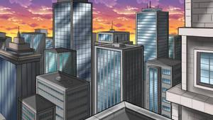 City Scape Background - Color