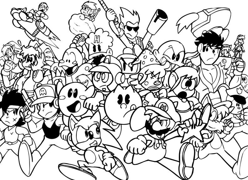 Bomberman coloring pages ~ VG Run Lineart by Pembroke on DeviantArt