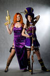 Caitlyn, Miss Fortune (cosplay League of Legends)
