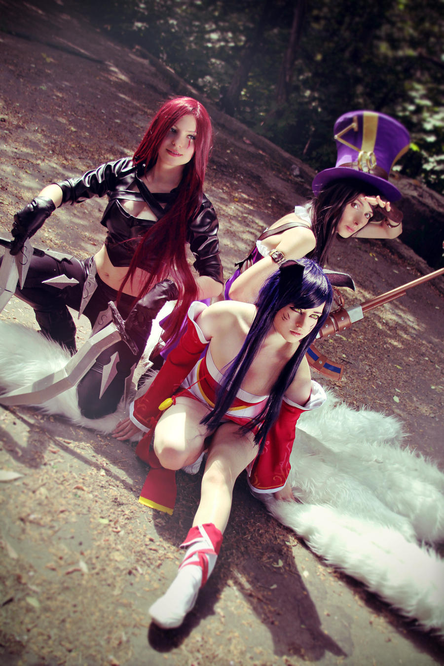 Caitlyn, Ahri, Katarina(cosplay League of Legends) by eiphen