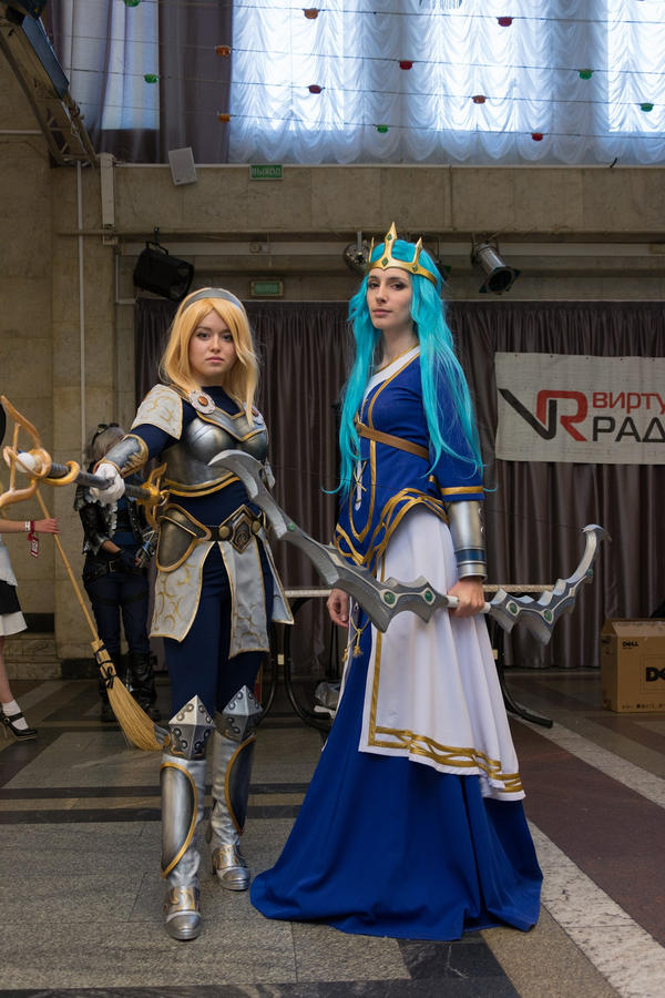Ashe (me) and Lux, Higan 2014 by eiphen