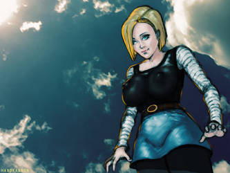 Android 18 by HanDKannon
