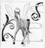 Pegasus or angel-horse by majann