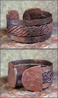 Hammered Copper Bracelet 01 by OrestesGraphics