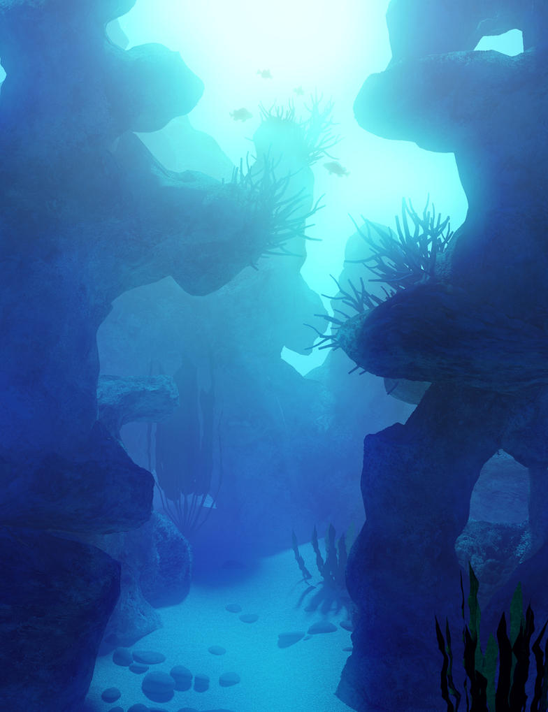 Underwater Canyon by OrestesGraphics on DeviantArt