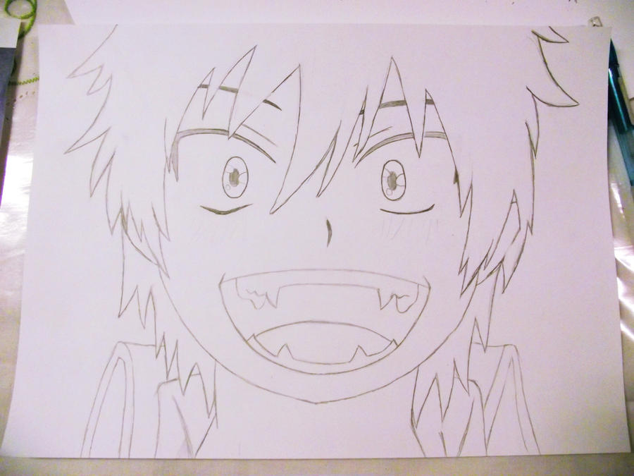 Okumura Rin Smile Drawing By Nyanperona Chu