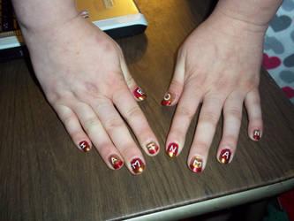 I am Ironman nails by Robertdowneyjrlvr