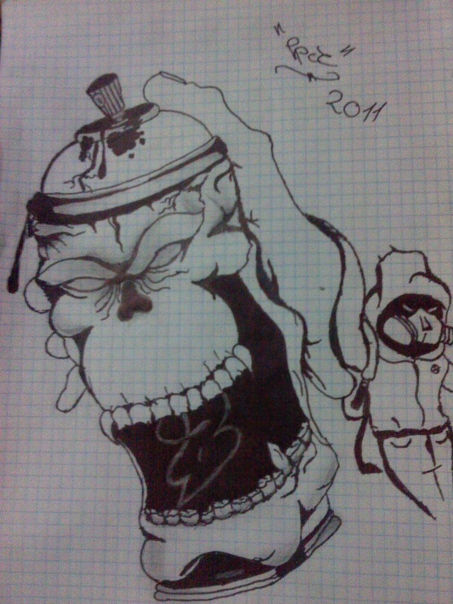 Graffiti Spray Can Characters Drawings Graffiti character byAwesome Graffiti Characters