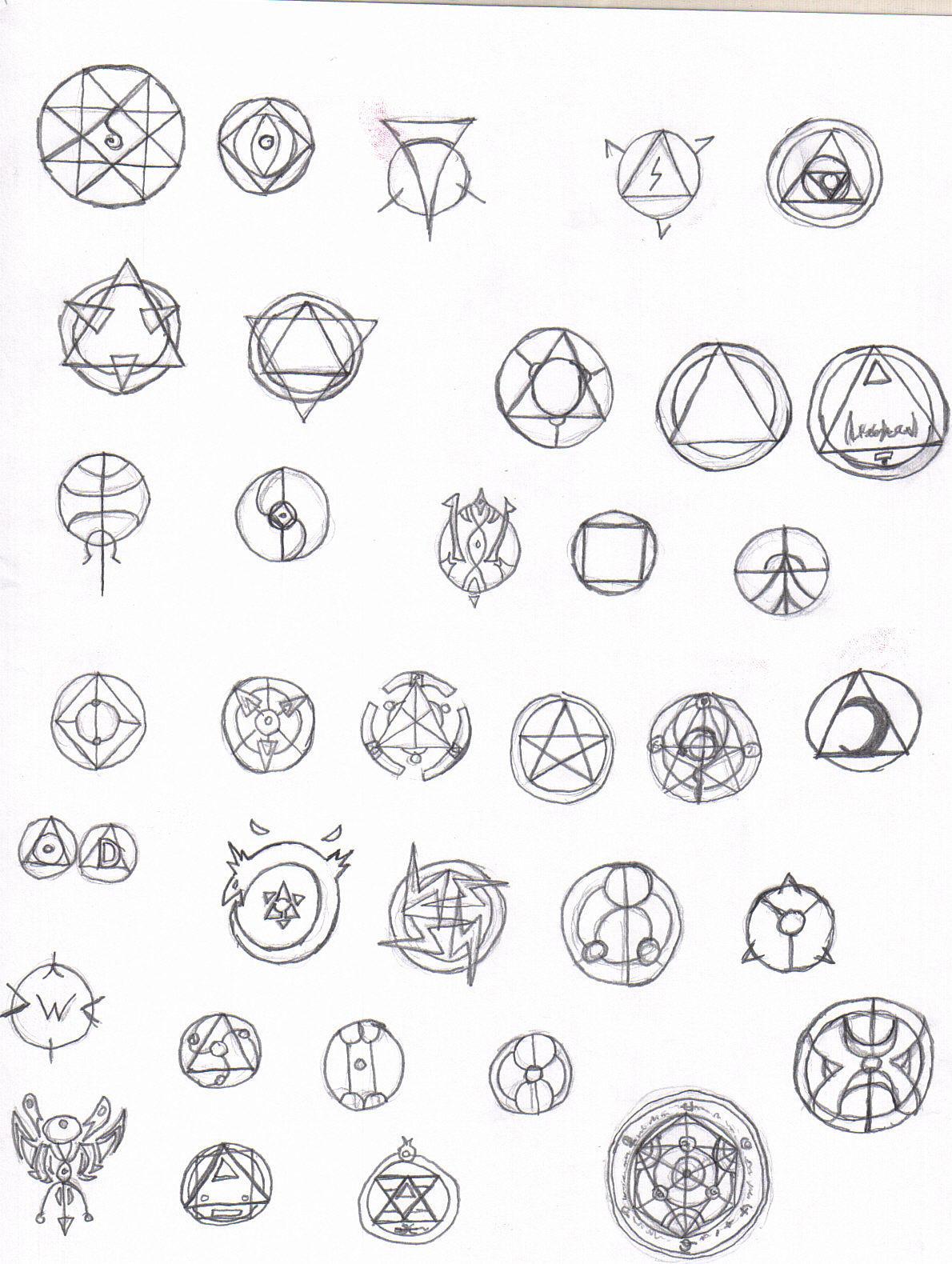 Alchemy symbols by deathjr on DeviantArt