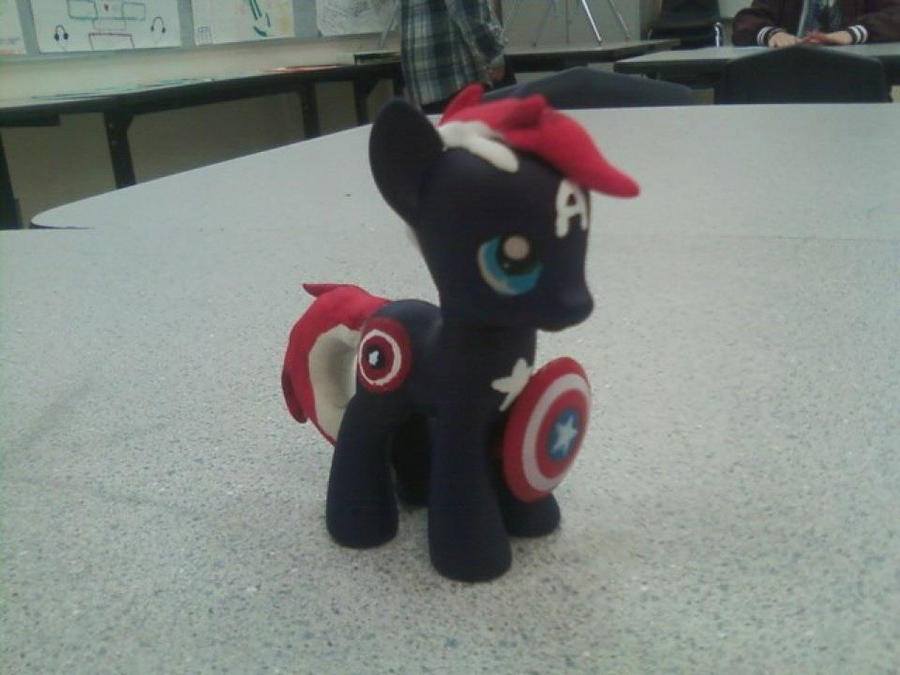 Custom pony: Captain America by Romtorum5ever