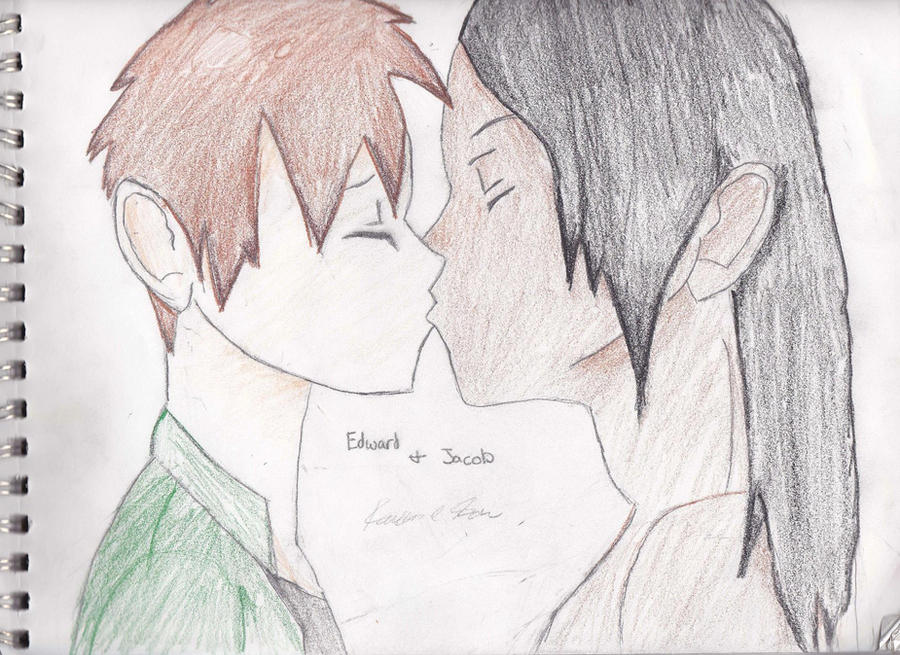 Edward and Jacob Yaoi by buffyvampireslayer39