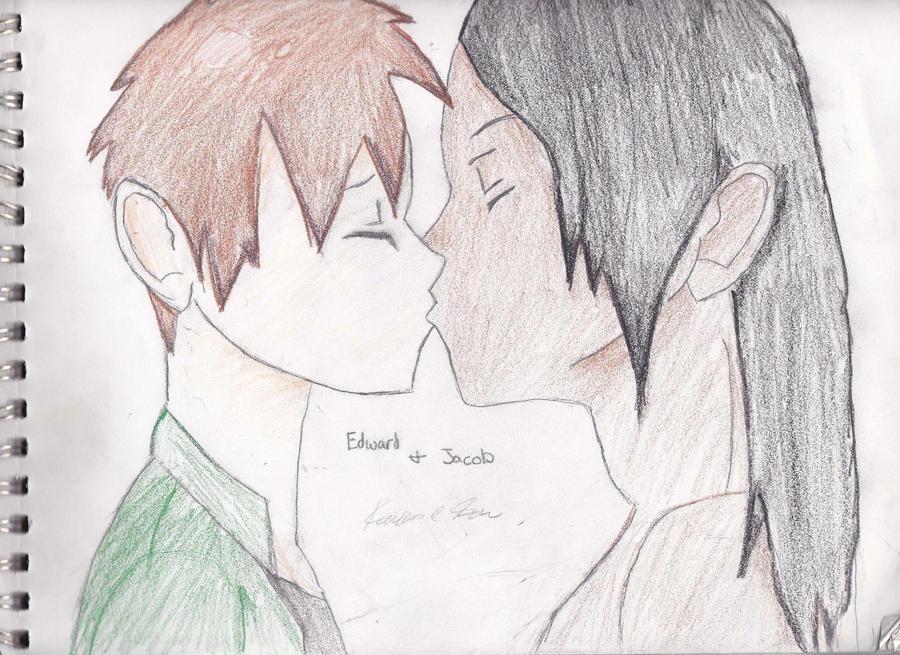 Edward and Jacob Yaoi by buffyvampireslayer39